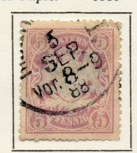 Bayern Bavaria 1888 Early Issue Fine Used 5pf. NW-120729