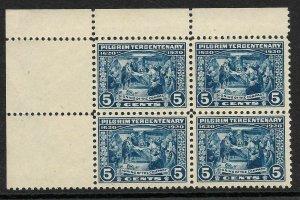 Doyle's_Stamps: MNH 1920 5c Pilgrims Landing Anniversary Block, XF+, Sct #550**