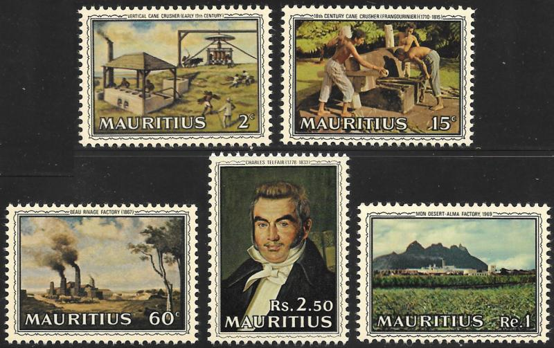 Mauritius  # 363 - 67 Mint Never Hinged