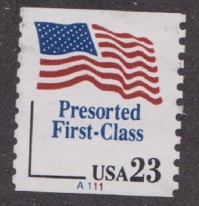 US #2605 Presorted Flag Used PNC Single plate #A111