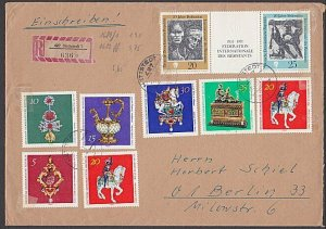 EAST GERMANY 1971 Registered cover - great franking.........................B361