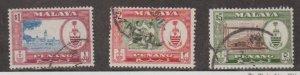 Malaya - Penang Scott #64-65-66 Stamp - Used Set