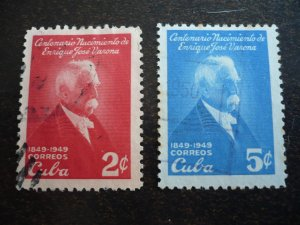 Stamps - Cuba - Scott#443-444  - Used Set of 2 Stamps