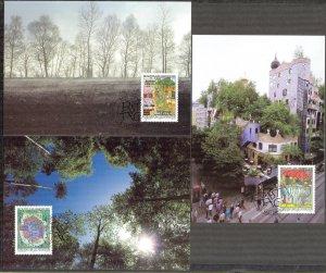 Liechtenstein 2000 Environment and Development 3 Maxi Cards FDC