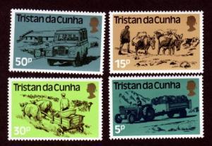 Tristan da Cunha MNH 328-31 Transportation 1983