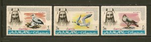Ajman C7-C9 Airmail Birds MNH