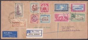 SAMOA 1952 definitive set complete on reg FDC................................390
