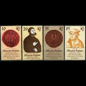 DDR 1982 - Scott# 2308-11 Martin Luther Set of 4 NH