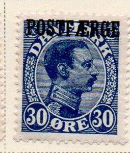 Denmark Sc Q6 1926 30 ore Christian X Post Faerge overprint stamp mint