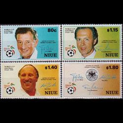 NIUE 1990 - Scott# 578-81 W.Cup Soccer Set of 4 NH