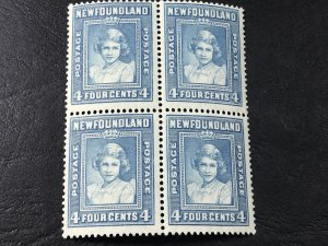 NEW FOUNDLAND # 247-MINT NEVER/HINGED----BLOCK OF 4----1938