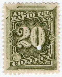 (I.B) USA Telegraphs : American Rapid 20c (Collect)