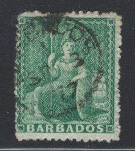 Barbados 1870 Britannia 1/2p Scott # 24 Used