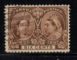 Canada Sc 55 1897 6c Victoria Jubilee stamp used