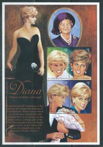 St. Vincent 2497 1997 Diana m/s MNH