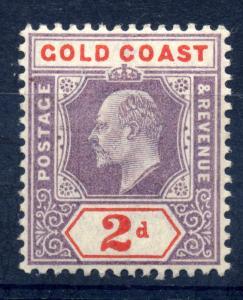 Gold Coast 1902 SG 40 2d Dull purple & orange red fine mint