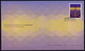 Canada new issue on FDC - Hanukkah