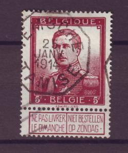 J21290 Jlstamps 1912 belgium hv of set used #102 king
