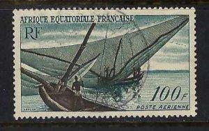 FRENCH EQUATORIAL AFRICA C40 VFU BOAT O641-1