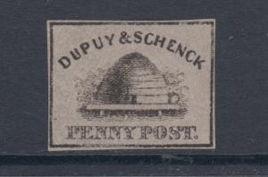 US Sc 60L2 MNG. 1846-1847 Dupuy & Schenck Local, Fake - Reproduction