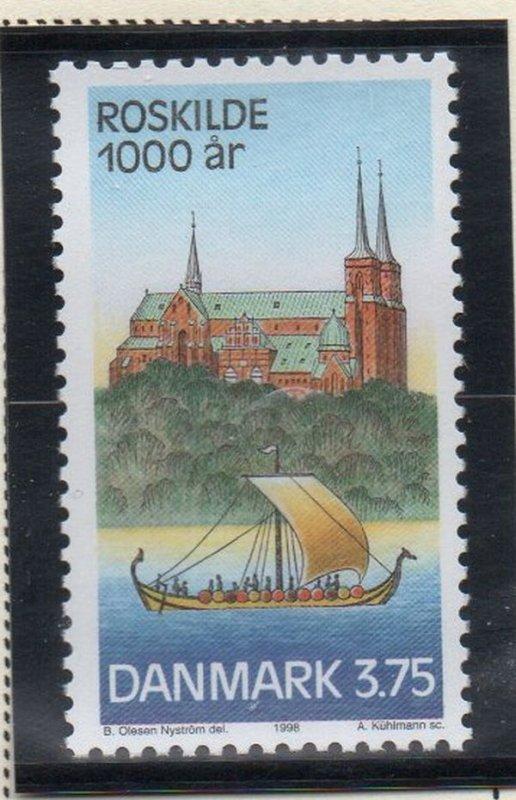 Denmark  Scott  1090 1998 1000th Anniversary Roskilde stamp mint NH