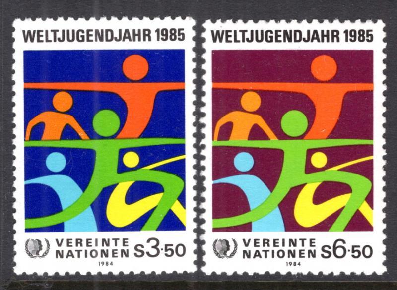 UN Vienna 46-47 MNH VF