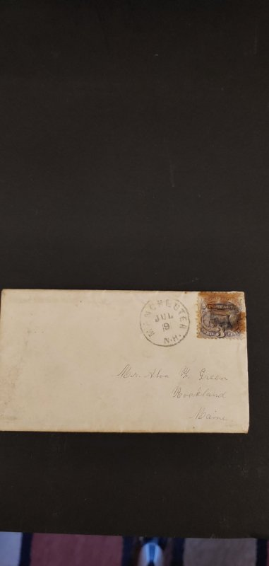 US #114 Used on Cover