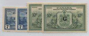 Canada Sc  CO1-2, EO1-2 Official stamp sets mint NH