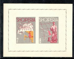1962 ALBANIA - SG: MS719a  - IMPERF   - TOURIST PUBLICITY -   UNMOUNTED MINT