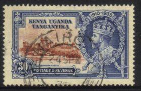 Kenya Uganda Tanganyika - 1935 KGV Silver Jubilee 30c Used