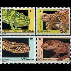BOTSWANA 1980 - Scott# 243-6 Reptiles Set of 4 NH