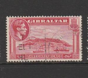 Gibraltar GV1 1938/51 1 1/2d P13.5, Lightly used SG 123a