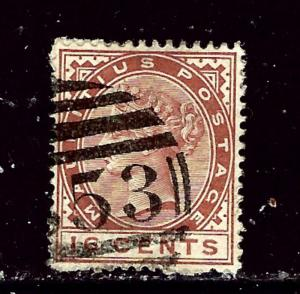 Mauritius 82 Used 1885 Issue