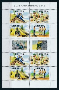 [NAV440] Aruba 2010 Scouting pfadfinder jamboree Miniature sheet MNH