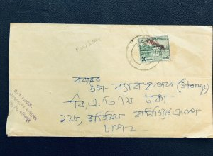 Bangladesh 1972 Cover Ovot on Pakistan  Red color hs commercial used Faridpur