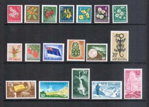 New Zealand 1967 SG 845-862 set of 18 MNH