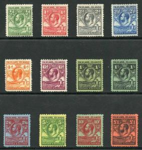 Falkland Is SG116/26 Penguin Set of 11 plus extra 1/- M/Mint