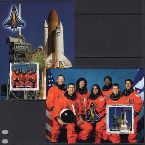 Mauritania 2003 Columbia Disaster Space ILAN RAMON (Israel) 2 S/S Perf.MNH