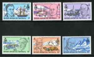 British Antarctic Territory. MNH 76-81 Explorers & Expeditions