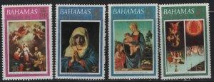 BAHAMAS 352-355, (4) SET, MNH, 1973 Christmas type