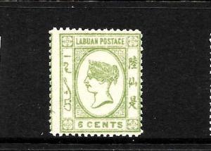 LABUAN  1894  6c  QV  MLH  SG 52