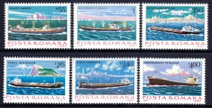 Romania 1981 Danube Commission - Steamers Complete Mint MNH Set SC 2995-3000