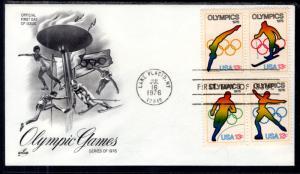 US 1698a Summer Olympics Artcraft U/A FDC