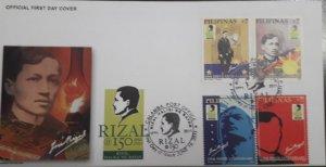O) 2011 PHILIPPINES, JOSE PROTASIO RIZAL - CALAMBA, FDC XF