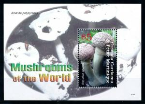 [100370] Grenada Carriacou 2007 Mushrooms Pilze Champignons Souvenir Sheet MNH