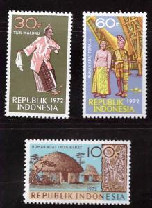 Indonesia  Scott 831-833 MH* stamp set
