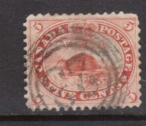 Canada #15 Used With Ideal 4 Ring 23 Cancel