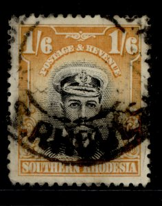 NORTHERN RHODESIA GV SG11, 2s deep brown and ultramarine, USED. Cat £42.