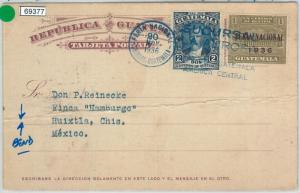 69377 - GUATEMALA - POSTAL HISTORY - STATIONERY CARD with UNISSUED STAMP 1936