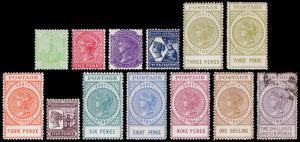 South Australia Scott 144-156 (1906-11) Mint/Used H F-VF, CV $219.50 M